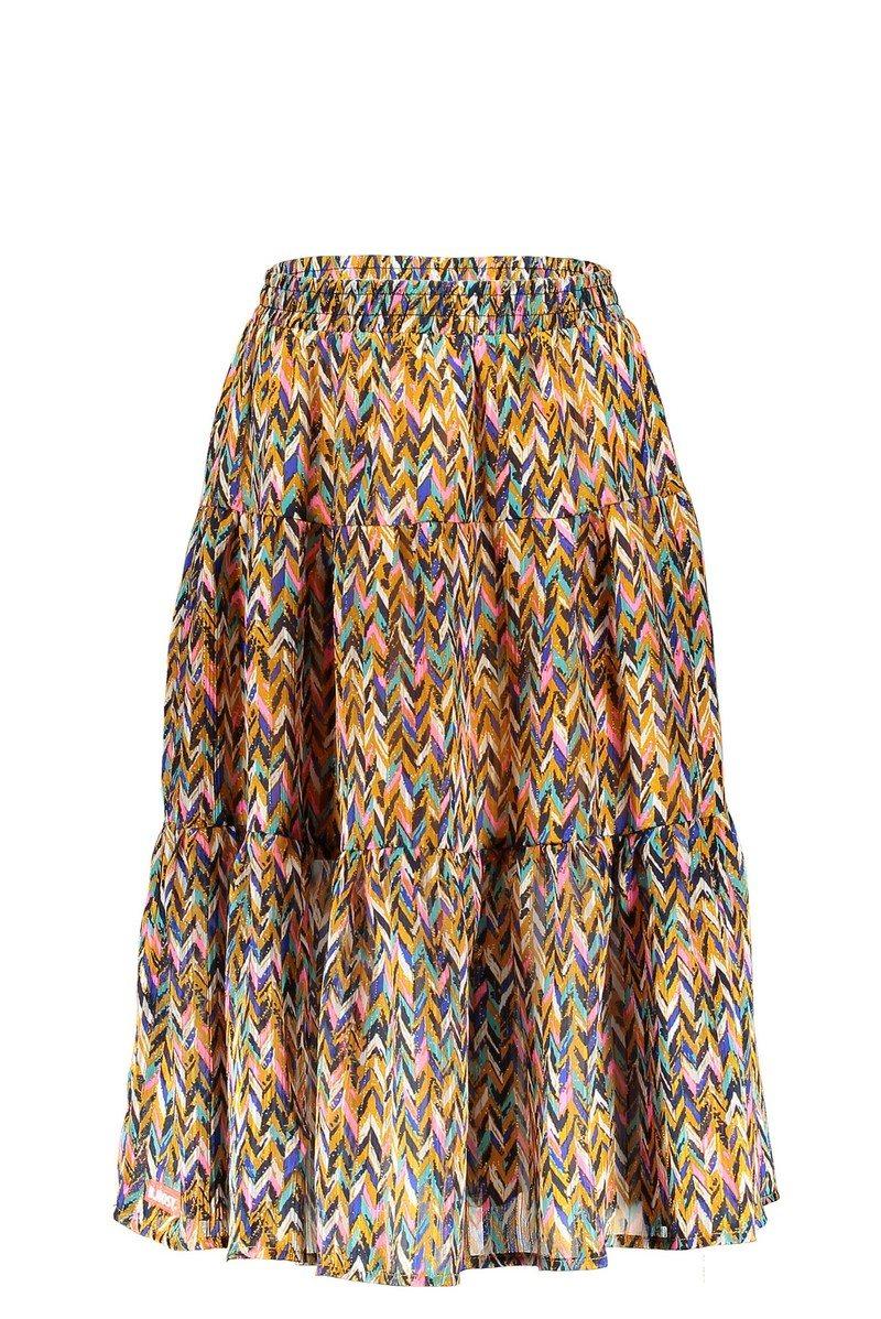 B Nosy Curious AOP Midi Skirt