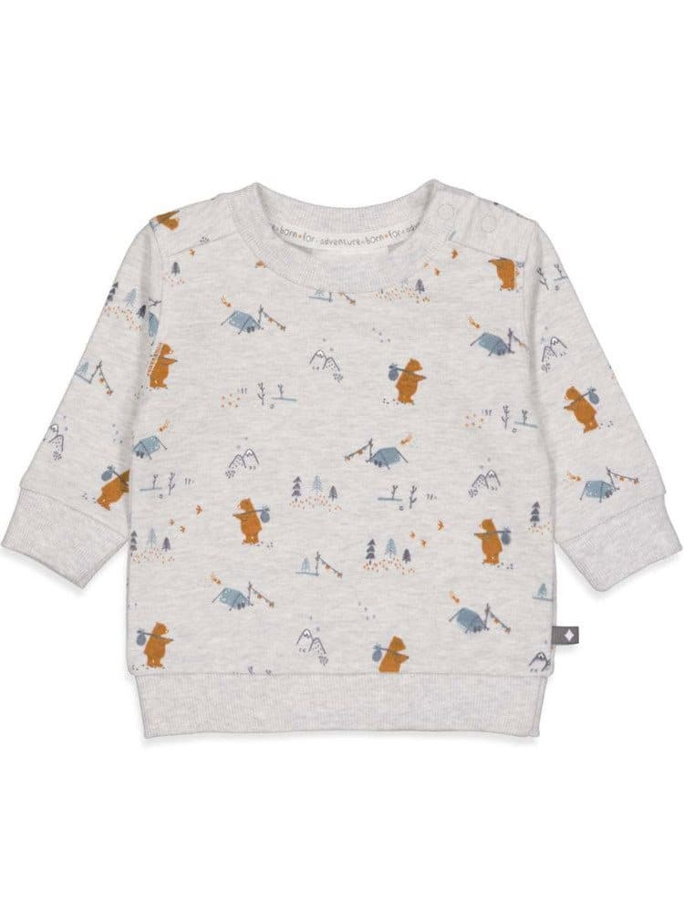 Feetje Sweater AOPGriddly Bear