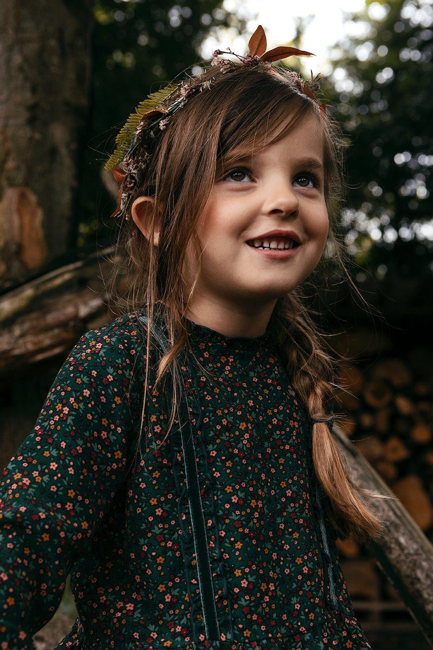Looxs Little Wijde jurk bloem